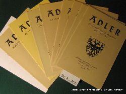 ADLER- Zeitschrift für Genealogie und Heraldik. 19. (XXXIII.) Band 1997-1998 komplett 8 Hefte und 1 Beilage.