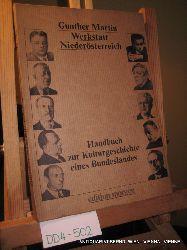 Martin, Gunther; Niederösterreich-Fonds (Hrsg.):  Werkstatt Niederösterreich. Handbuch zu Kulturgeschichte eines Bundeslandes.