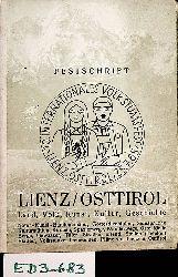 10. Internationales Volkstumsfest Lienz / Osttirol Samstag, 24. Juli und Sonntag, 25. Juli 1965 ; [Festschrift] Edlinger, Max [Red.]