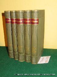 Grillparzer, Franz; Franz, Rudolf (Hrsg.):  Grillparzers Werke. Kritisch durchgesehene und erläuterte Ausgabe in fünf [5] Bänden. (= Meyers Klassiker-Ausgaben) KOMPLETT