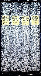 Morgenstern, Christian (eig. Christian Otto Josef Wolfgang Morgenstern); Heselhaus, Clemens (Hrsg.):  Christian Morgenstern: Gesammelte Werke in vier Bänden. KOMPLETT