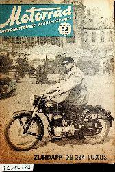 Motorrad  Internationale Fachzeitschrift 6. Jahrgang Heft 52