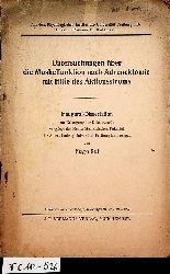 Ruf, Hugo:  Untersuchungen über die Muskelfunktion nach Adrenektomie mit Hilfe des Aktionsstroms. (=Aus: Zeitschrift f. Biologie. Bd 98, H. 2.). Freiburg i. B., Med. Diss., 1938.