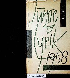 Junge Lyrik 1958. Eine Auslese. Hrsgg. von Hans Bender.