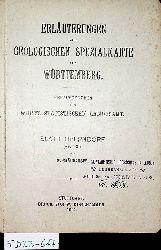 ERLÄUTERUNGEN ZUR GEOLOGISCHEN KARTE VON WÜRTTEMBERG. Blatt Oberndorf (Nr130)  von M. Bräuhäuser
