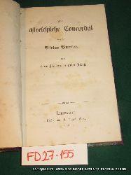 Das österreichische Concordat und der Ritter Bunsen. Von einem Diplomaten außer Dienst.