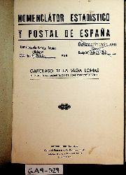 Vega Lomas, Garcilaso de la:  Nomenclátor estadístico y postal de España.