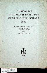 Görres-Gesellschaft:  Jahres- und Tagungsbericht der Görres-Gesellschaft 1959.