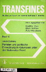 Zelinsky, Ulrich:  Parteien und politische Entwicklung in Kolumbien unter der Nationalen Front. (=Transfines ; Band  12) [=Zugl.: Mannheim, Univ., Diss., 1976 u.d.T.: Zelinsky, Ulrich : Kolumbien: Parteien und Entwicklung während der Nationalen Front]