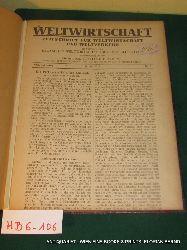 WELTWIRTSCHAFT. Zeitschrift  für Weltwirtschaft und Weltverkehr 8. Jg. 1918 No 1-9