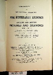 Catalogue of the Important Collection of Fine Rembrandt Etchings, and ancient and modern pictures and drawings, formed by the late Ernest C. Innes ... and now sold by order of the executors of Mrs. Ernest C. Innes ... which will be sold at auction by Messrs. Christie, Manson & Woods ... December 13, 1935, etc.