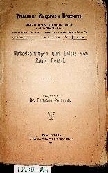 Hensel, Luise / Cardauns, Hermann  hrsg.:  Aufzeichnungen und Briefe von Luise Hensel. (=Frankfurter zeitgemäße Broschüren ; N.F., 35, H. 3)