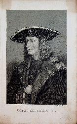 MAXIMILIAN I. Kaiser Maximilian II. imit Collane des Ordens vom Goldenen Vlies (Künstler: Gestochen von A[dam) Sandor Ehrenreich (1784-nach 1840)