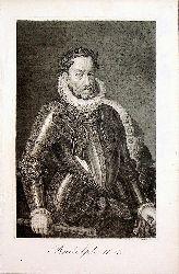 RUDOLF II. - Kaiser Rudolf II. (gestochen von  F. Mehl)