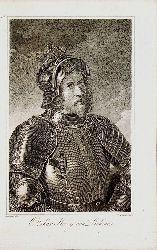 OTTOKAR KÖNIG VON BÖHMEN . - Ottokar König von Böhmen (gestochen von  C. Mahlknecht nach Schlesinger)