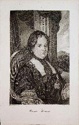 MARIA THERESIA - Maria Theresia von Österreich ( gestochen von A. Bogner nach Hasselwander)