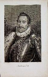 FERDINAND II.- Kaiser Ferdinand II. ( gestochen von A. Bogner nach Hasselwander)