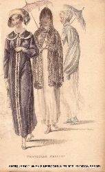 Damenmode 1810 er Jahre PROMENADE DRESSES (=From: The Repository of arts, literature, commerce, manufactures, fashions and politics)