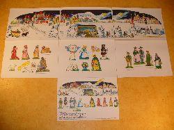 Ausschneidebogen - Bastelbogen - Bauanleitung:  Weihnachtskrippe - Papierkrippe - Aflenzer Winterkrippe von Christine Fluch aus Hochschwab.