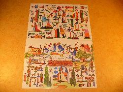 Ausschneidebogen - Bastelbogen - Bauanleitung:  Weihnachtskrippe - Papierkrippe - Krippe aus Papier mit Spielzeugfiguren aus Skasov / Pschestitz / Pilsen von Jiri Bel.
