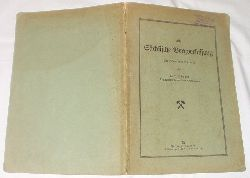 Max Börner  Die sächsische Bergverfassung - Ein Hand- und Lehrbuch