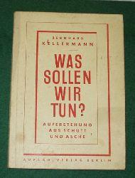 Bernhard Kellermann  Was sollen wir tun? - Auferstehung aus Schutt und Asche