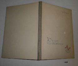 Autorenkollektiv  10 Jahre VEB Geophysik 1951-1961 (Festschrift zum 10jährigen Bestehen des VEB Geophysik)
