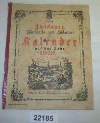 kein Autor  Neuer Zwickauer Wirtschaft- und Historien- Kalender auf das Jahr 1920