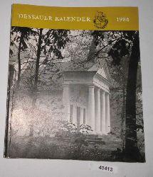 Herausgeber: Rat der Stadt Dessau  Dessauer Kalender 1986. 30. Jahrgang