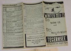 Verkehrsverein Tegernsee  Wohnungsverzeichnis Tegernsee Winter 1934-35 und