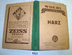 kein Autor  Woerl´s Reisehandbücher: Führer durch den Harz und das Kyffäuser-Gebirge