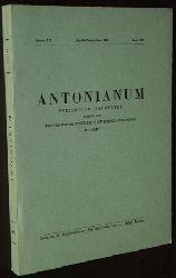 Antonianum (periodicum trimestre). Annus LX, fasc. 2-3 (Apr. - Sept. 1985).