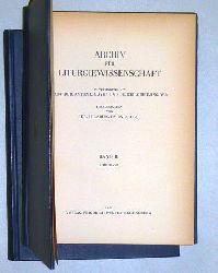 Archiv für Liturgiewissenschaft. Hrsg. von Hilarius Emonds OSB.