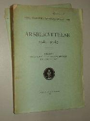 Årsberättelse 1941-1942. Bulletin de la Société Royale des Lettres de Lund 1941-1942.
