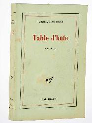 Boulanger, Daniel:  Table d