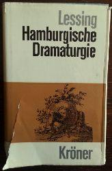 Lessing, Gotthold Ephraim:  Hamburgische Dramaturgie. Kritisch durchgesehene Gesamtausgabe.