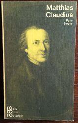 Berglar, Peter:  Matthias Claudius in Selbstzeugnissen und Bilddokumenten.