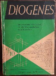 Diogenes:  Internationale Zeitschrift für die Wissenschaften vom Menschen. Hrsgg. vom Internationalen Rat für Philososphie und Geisteswissenschaft, Heft 9/10.