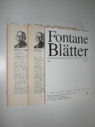 """FONTANE, Theodor - FONTANE BLÄTTER:""  ""Potsdam, Theodor Fontane Archiv 1974-1993."""