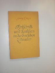 LUKACS, Georg:  Fortschritt und Reaktion in der deutschen Literatur.