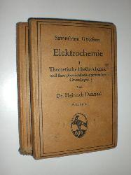 DANNEEL, Heinrich:  Elektrochemie. Band 1: Theoretische Elektrochemie und ihre physikalischen-chemischen Grundlagen. Band 2: Eyperimentelle Elektrochemie. Messmethoden, Leitfähigkeit, Lösungen.