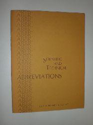 -:  Scientific and Technical Abbreviations.