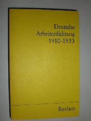 HEINTZ, Günter (Hrsg.):  Deutsche Arbeiterdichtung 1910-1933.