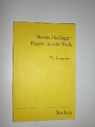 """""""HEIDEGGER, Martin:""""  """"Fragen an sein Werk. Ein Symposion."""""""