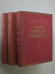 SCHERR, Johannes - BLEI, Franz (Hrsg.):  Deutsche Kultur und Sittengeschichte in drei Bänden. Durchgesehen und herausgegeben von Franz Blei.
