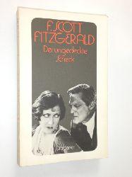 FITZGERALD, F. Scott:  Der undgedeckte Scheck. Erzählungen 1931-1935. Aus dem Amerikanischen von Christa Hotz und Alexander Schmitz.
