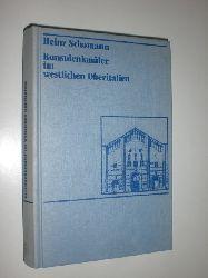 SCHOMANN, Heinz:  Kunstdenkmäler im westlichen Oberitalien. Lombardei - Piemont - Ligurien - Aostatal.