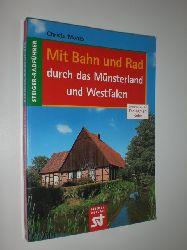 MONKS, Christa:  Mit Bahn und Rad durch Münsterland und Westfalen. 57 Farbabbildungen, 35 Tourenkarten und eine Übersichtskarte.