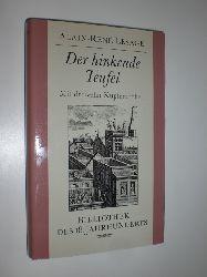 LESAGE, Alain-René:  Der hinkenede Teufel. Mit dreizehn Wiedergaben zeitgenössischer Kupferstiche. Aus dem Französischen von Walter Hoyer.