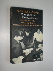 """""""MÜLLER-TUPATH, Karla:""""  """"Verschollen in Deutschland. Das heimliche Leben des Anton Burger, Lagerkommandant von Theresienstadt. Mit einem Vorwort von Simon Wiesenthal."""""""